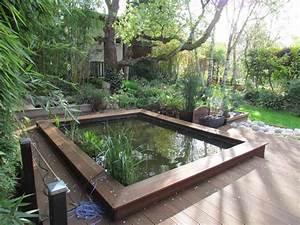 Bassin De Jardin Pour Poisson : bassin aux poissons rouges au jardin de mo et marc ~ Premium-room.com Idées de Décoration