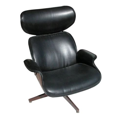 george mulhauser leather plycraft lounge chair for sale at