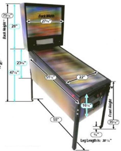 arcade game pinball machine dimensions castle classic