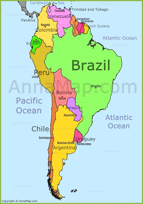 map  south america nations  project  soth