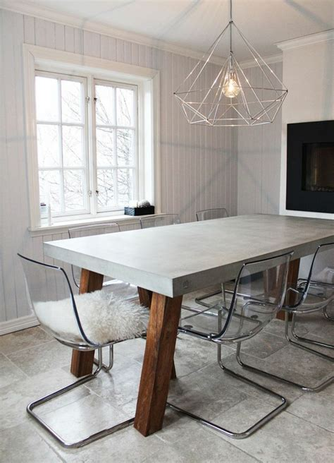 Esszimmer Le Holz Beton by Esstisch Beton Cheap Tisch Esstisch Beton Und Holz With