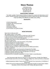 entry level welding resume templates welder resume exles