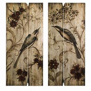 French country wall art s bird floral