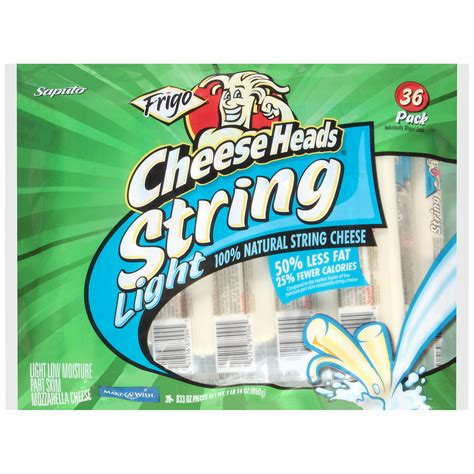 frigo cheese heads light string cheese 36 ct 0 8 oz
