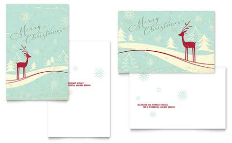 greeting card template adobe illustrator antique deer greeting card template design