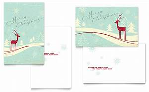 Free Sports Card Template Antique Deer Greeting Card Template Design