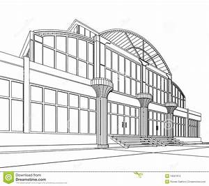 Mall Building Clipart Black And White | Letters