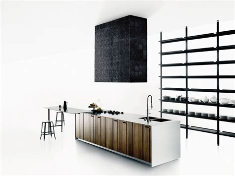 kitchen island steel solid wood kitchen with island aprile by boffi design