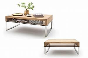 Table Basse Bois Acier : table basse de salon en bois verre et acier pour table basse ~ Teatrodelosmanantiales.com Idées de Décoration