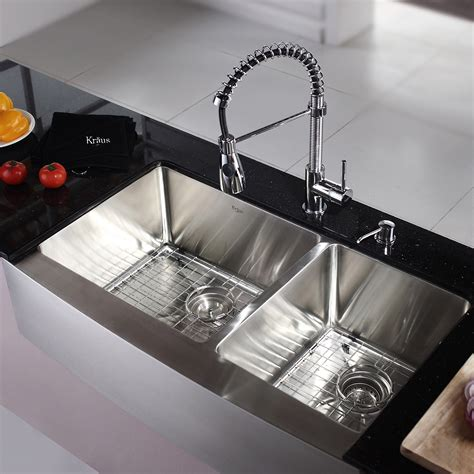 cucina kitchen faucets stainless steel kitchen sink combination kraususa com