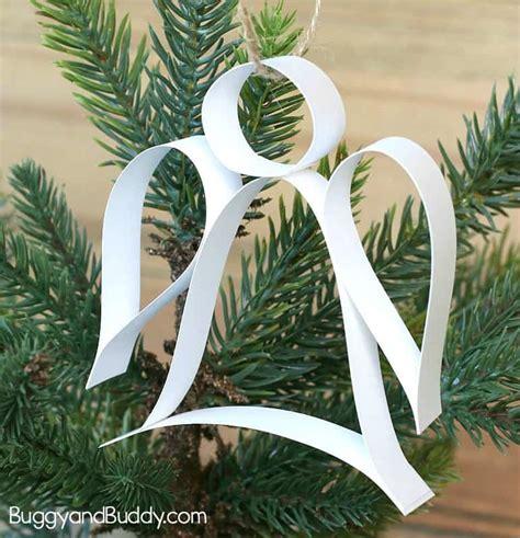 paper strip angel ornament christmas craft