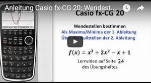 1 Ableitung Berechnen : casio fx cg20 bedienungsanleitung wendestellen berechnen ~ Themetempest.com Abrechnung