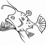 Coloring Fish Angler Pages Silly Funny Face Shaped Deep Drawing Getcolorings Printable Sea Viper Getcoloringpages Simple sketch template