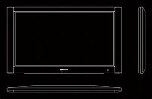 Tv Plasma Samsung DWG Block for AutoCAD • Designs CAD