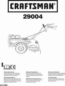 Craftsman 917290046 User Manual Rear Tiller Manuals And