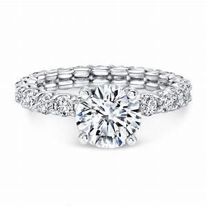 floating diamond eternity ring engagement rings bridal With floating diamond wedding ring