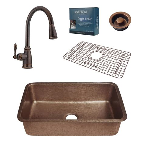 kitchen sink and faucet combo sinkology pfister all in one orwell 30 in undermount