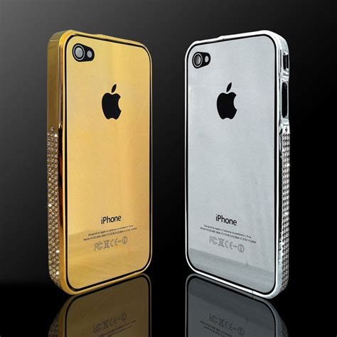 iphone 4 gold iphone 4 4s gold plated back plate and bumper extravaganzi