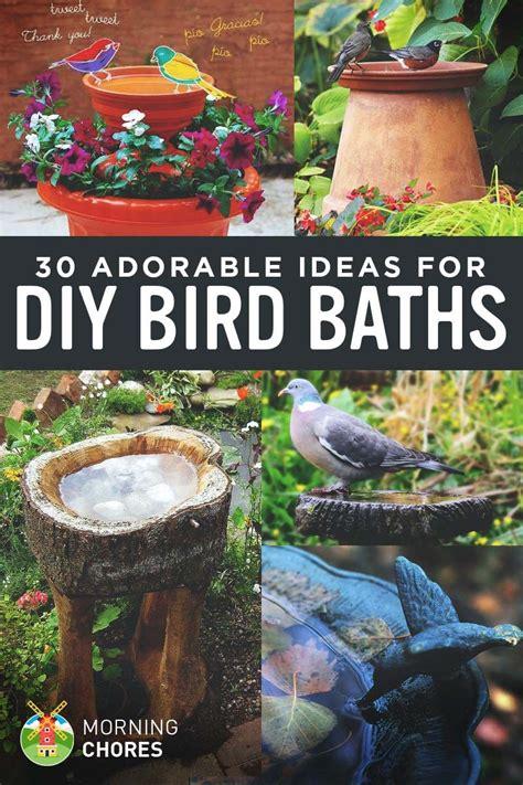 adorable diy bird bath ideas   easy  fun