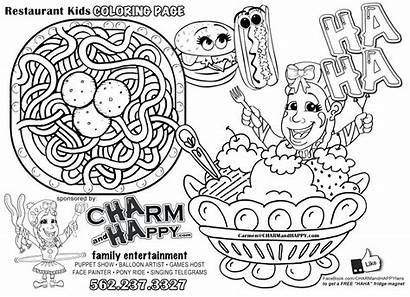 Coloring Restaurant Menu Pages Magnet Drawing Sheets