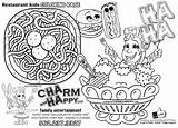 Coloring Restaurant Menu Magnet Drawing Printable Template Getcolorings Templates Sketch Getdrawings Animal sketch template