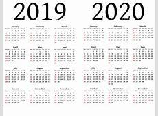 Free Printable 2019 and 2020 Calendar Calendar 2020