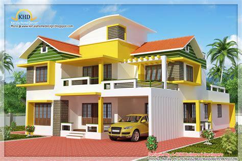 Duplex House Elevation  2700 Sq Ft  Kerala Home Design