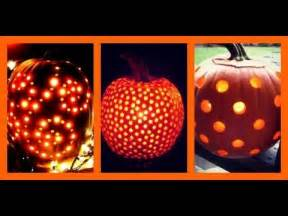 Pumpkin Carving Drill Patterns by Use A Drill To Carve Your Pumpkins Youtube
