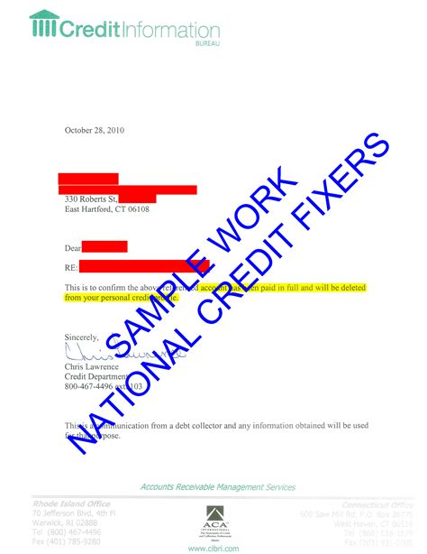 information bureau success stories sles of our work credit information