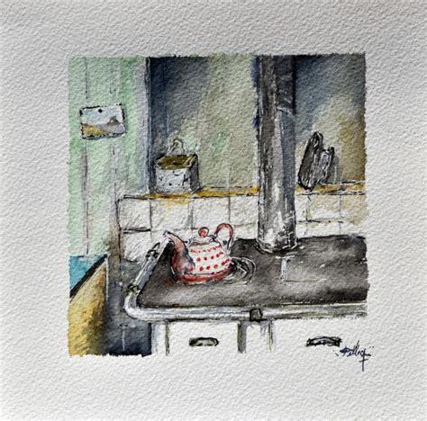 r駭 vieille cuisine du bout du pinceau