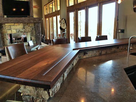 Bar Countertop Ideas by Devos Custom Woodworking Slab Walnut Wood Countertop