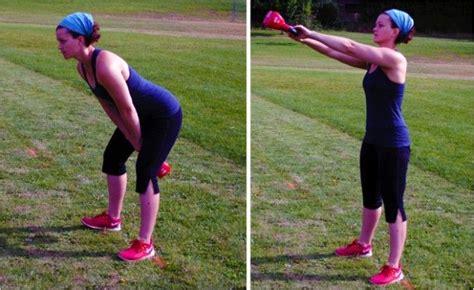kettlebell runners running exercises competitor training