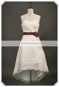 40 wedding dress hi low wedding dresses boning lace hi low knee length sash wedding wedding dresses 2013