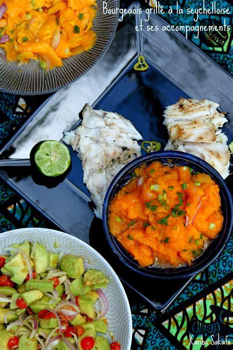 cuisine seychelloise bourgeois grillé à la seychelloise et ses accompagnements