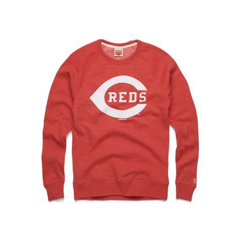 cincinnati reds logo crewneck cincy ohio mlb baseball