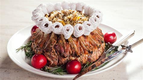 crown roast  pork  wild rice stuffing