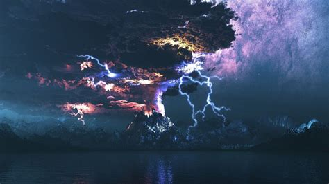 64 volcanic lightning wallpapers on wallpaperplay