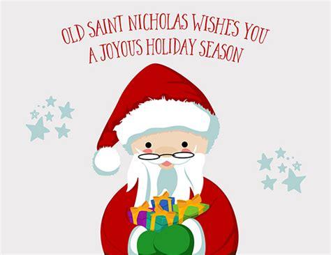 Old St. Nicholas Wishes You Joy. Free St. Nicholas Day