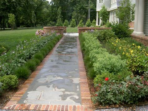 walkway landscape design 56 best images about front walkway on pinterest