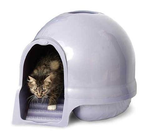 maison de toilette pour chat pas cher maison de toilette cleanstep pour chats en forme d igloo