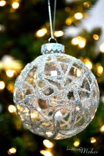 my diy christmas part 4 german glass glitter ornaments brittanymakes