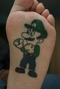 cool mario tattoos but a nail cut wouldn 39 t be