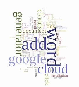 How to generate a word cloud image in google docs for Google docs word cloud