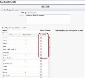 partial data sandbox With salesforce sandbox template