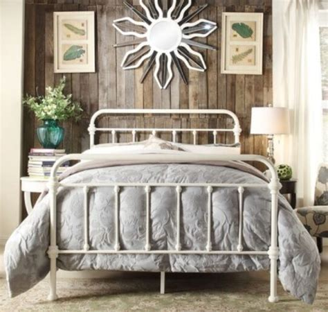 Vintage Iron Bed by King Antique Style White Iron Metal Beds Bed