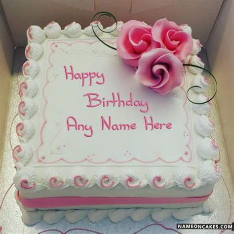 decorated square happy birthday cake