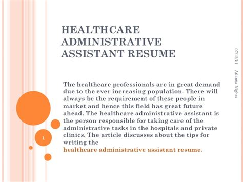 healthcare administrative assistant resume healthcare administrative assistant resume 7