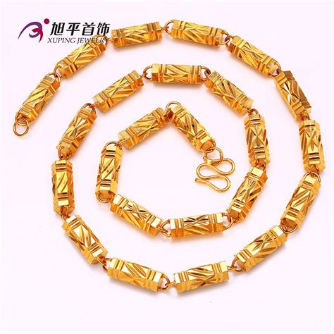 xuping jewelry  gold jewelry fashion long gold chain