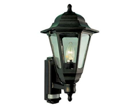 black coach lantern with pir security light 100w exterior