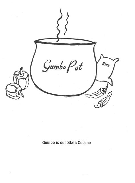 cuisine of louisiana coloring book pages